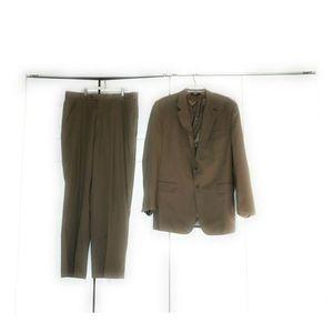 Jos.A.Bank Mens Suit 44 L Pants 39 L Tan Beige